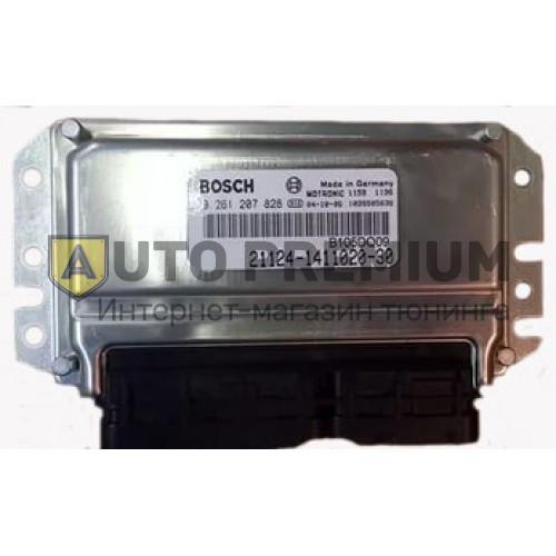 Контроллер ЭБУ BOSCH 21126-1411020-00 (VS 7.9.7). Лада Приора, 2 датчика кислорода, кондиционер.